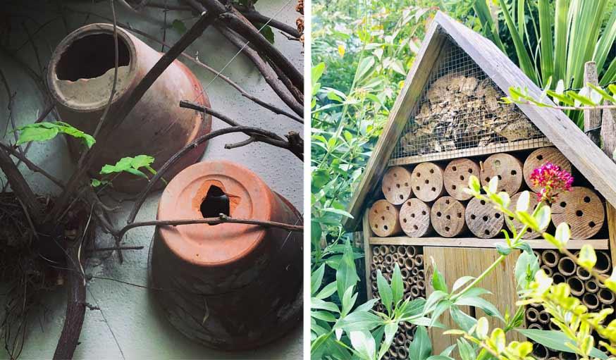 nichoirs et hôtel à insectes