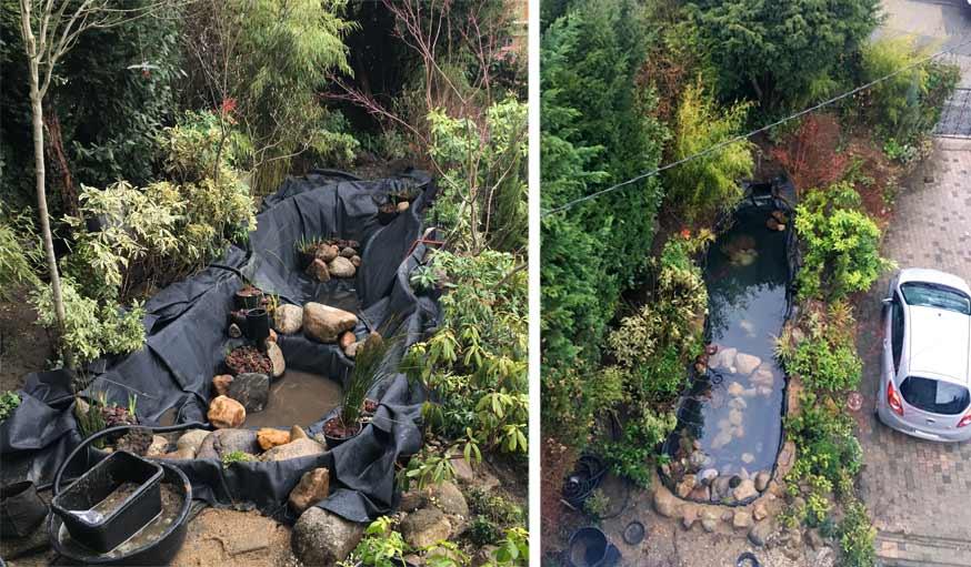 préparation et mise en eau du bassin jardin de ville