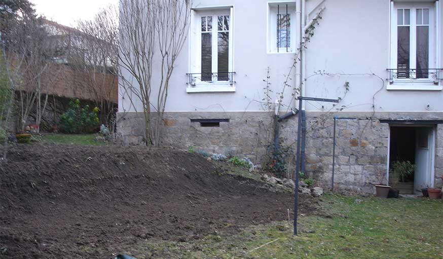 terrassement jardin de ville