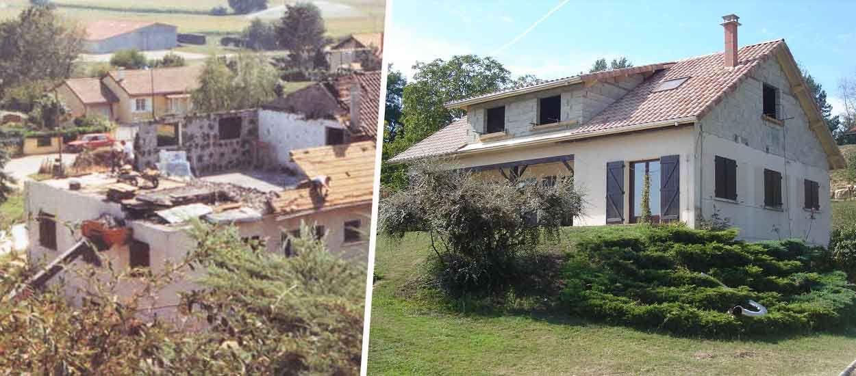 Ils ont reconstruit leur maison incendiée grâce à la solidarité de leurs amis et de leurs artisans