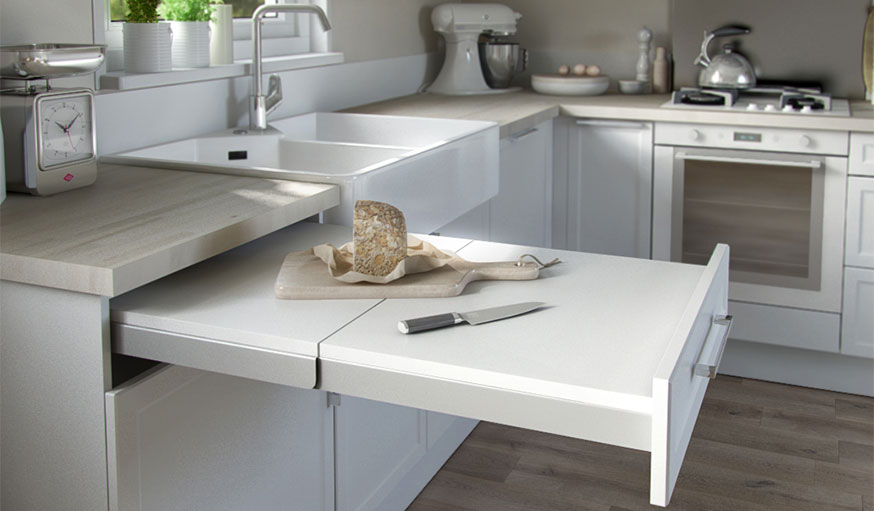 Kit tiroir plan de travail Topflex COOKE&LEWIS. ©Castorama
