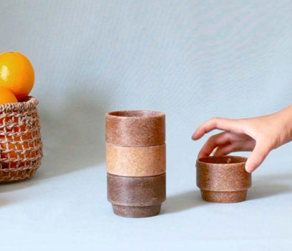 Ils fabriquent des tasses... avec des restes d'orange !