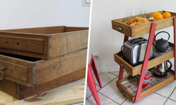 8 idées simples et originales pour réutiliser vos vieux tiroirs