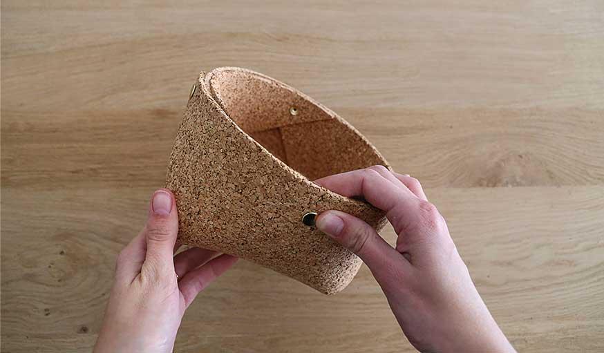 tutoriel fabriquer une corbeille en liège étape 6