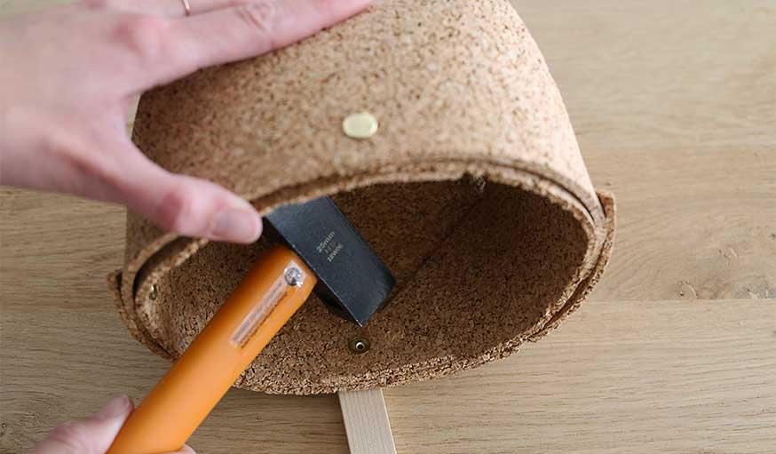 tutoriel fabriquer une corbeille en liège étape 7