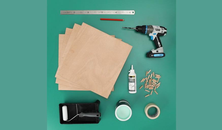 Tutoriel Fauteuil Montessori outils et matériaux