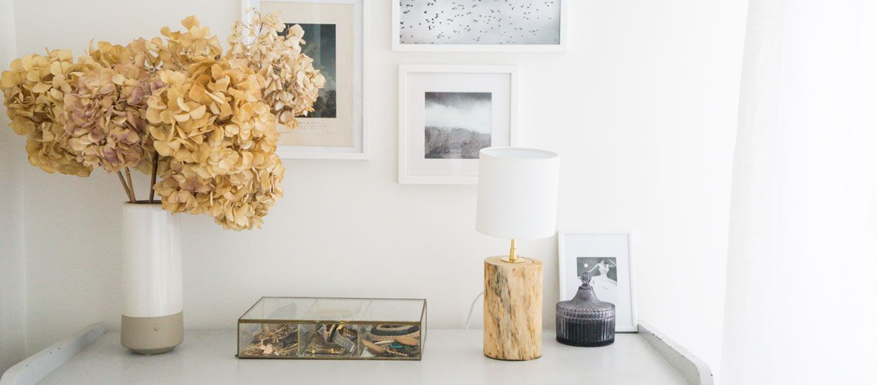 Tuto : fabriquez un pied de lampe brut avec une bûche de bois