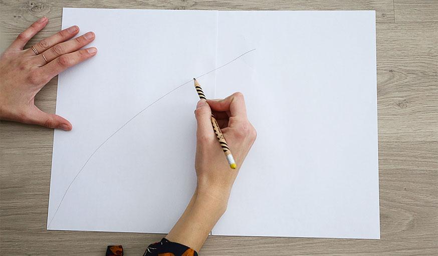 Tutoriel paravent papier peint étape 1