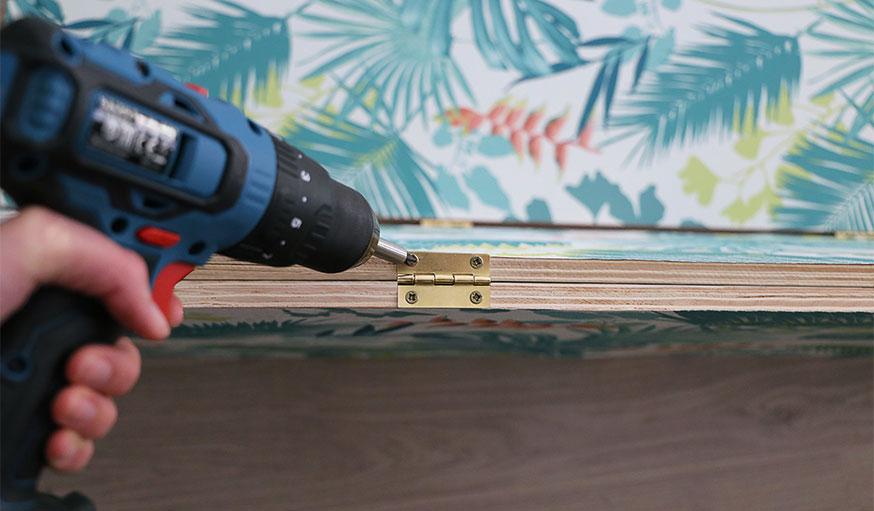 Tutoriel paravent papier peint étape 12