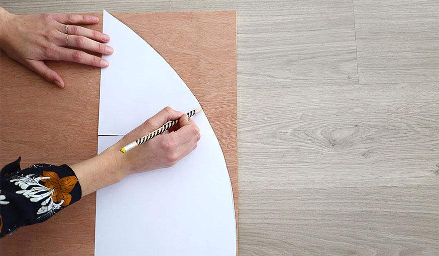 Tutoriel paravent papier peint étape 3