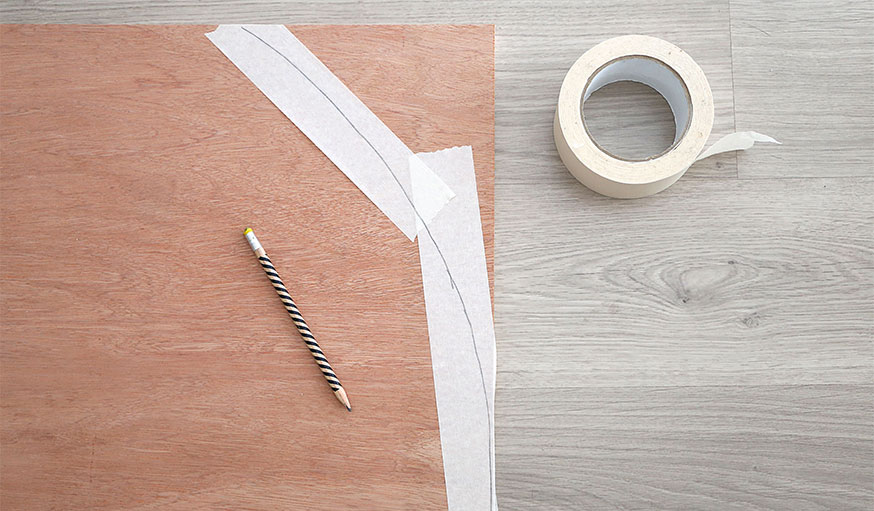 Tutoriel paravent papier peint étape 4