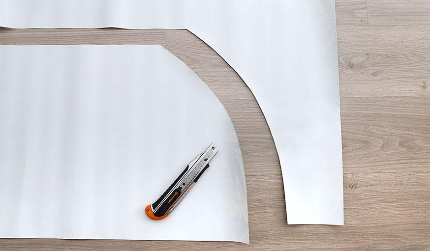 Tutoriel paravent papier peint étape 7