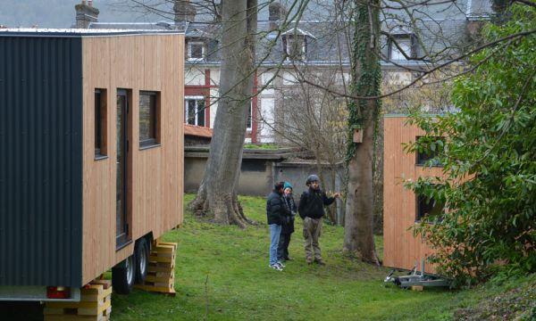 À Rouen, deux tiny houses inaugurées pour permettre aux sans-abri de trouver un emploi