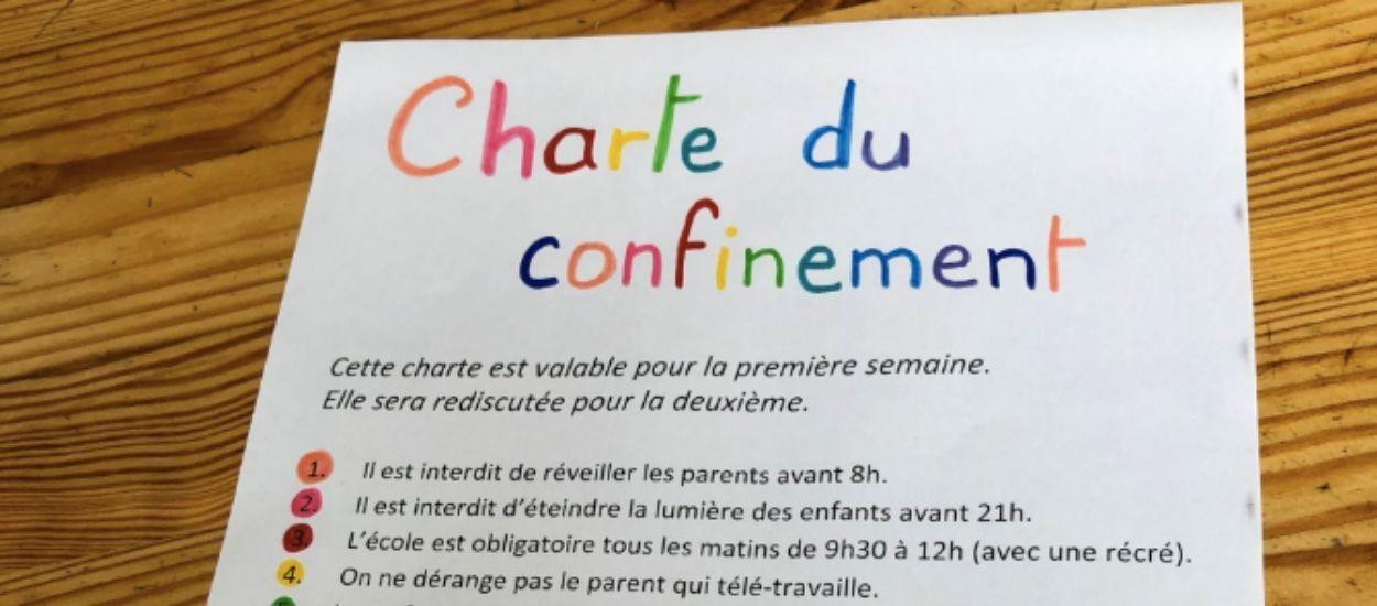 Coronavirus : des parents rédigent une charte de confinement pour que tout se passe bien à la maison