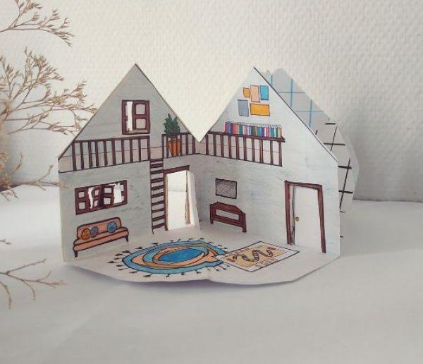 Tuto : Vos enfants fabriquent la maison de leurs rêves en papier !