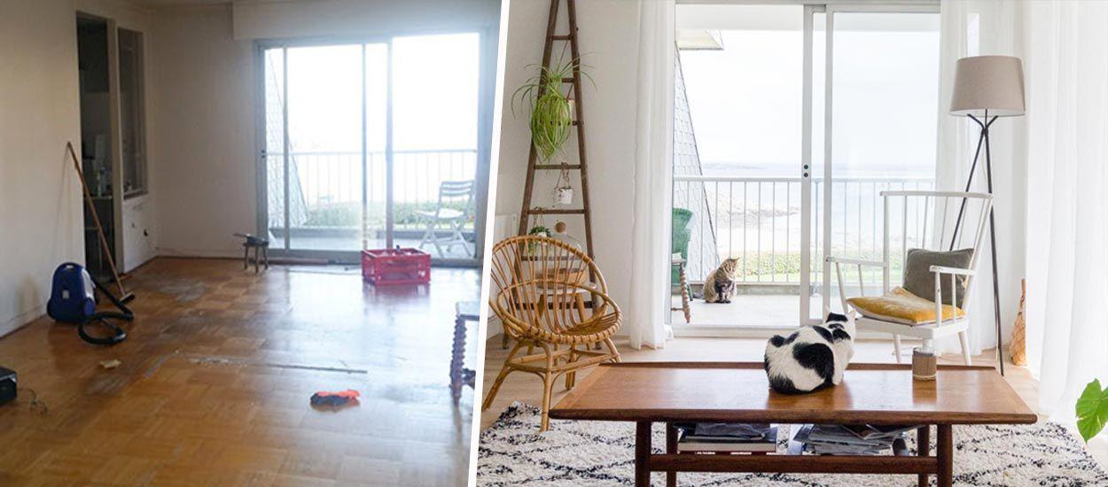Avant / Après : une déco tout en légèreté dans cet appartement avec vue sur la mer