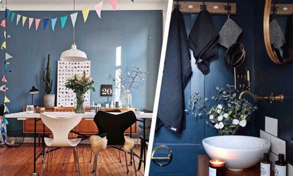 Nuancier déco : voici toutes les couleurs qui se marient à merveille avec le bleu