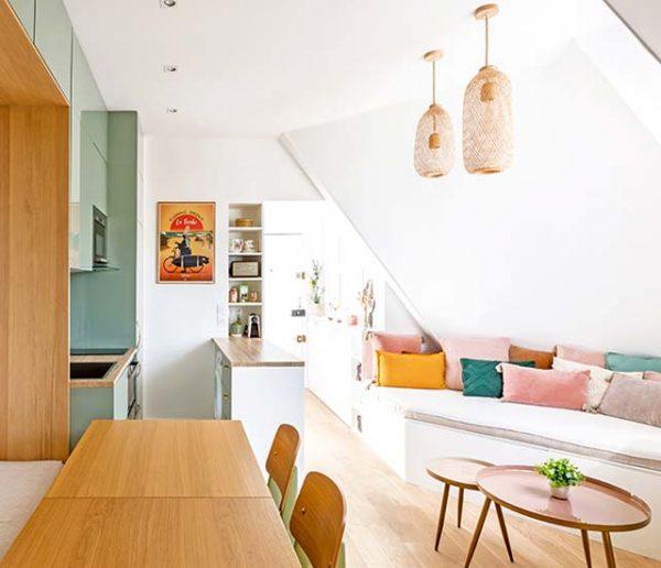 Avant / Après : un appartement sous les toits avec des détails qui changent tout !