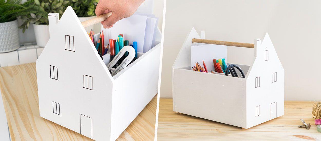 Tuto : Réalisez facilement une caisse de rangement pour le matériel de dessin des enfants