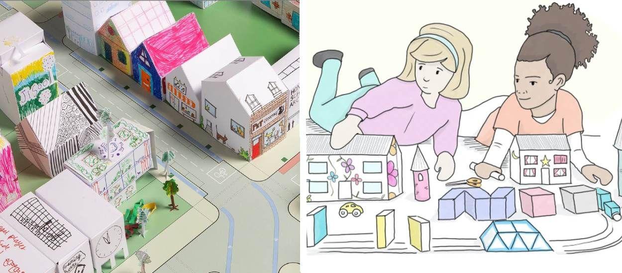 Activité pour les enfants : créer une mini-ville grâce à ces origamis à imprimer