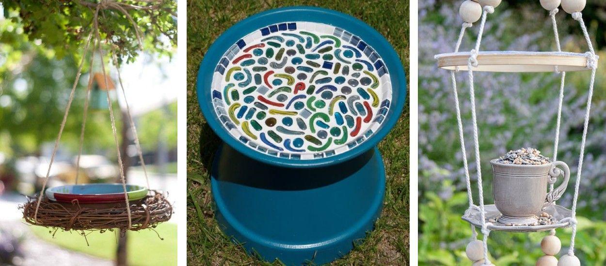 8 idées pour créer un petit abreuvoir pour les oiseaux du jardin