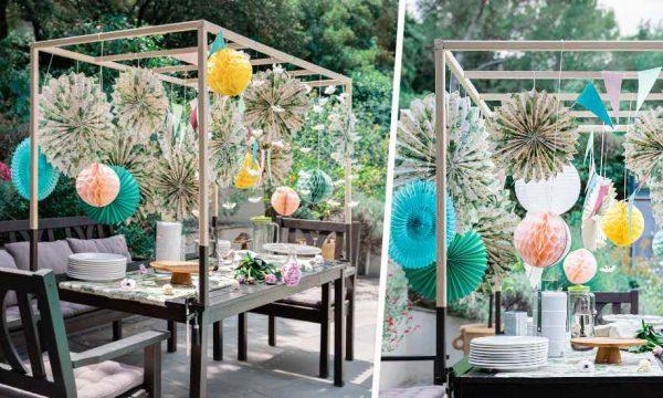 Tuto : Fabriquez un baldaquin de table pour une déco de fête grandiose