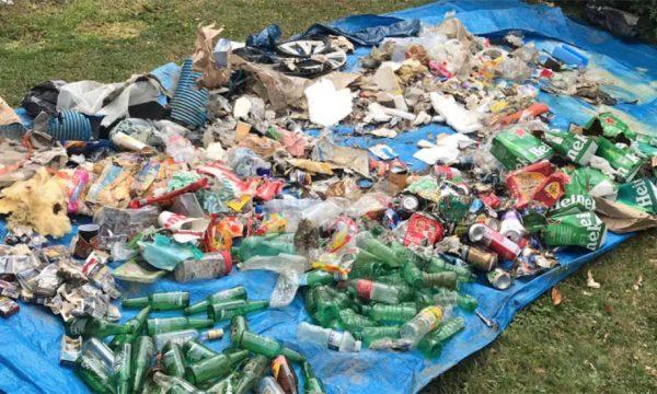 Coup de gueule : elle ramasse une quantité astronomique de déchets sur le chemin de son travail
