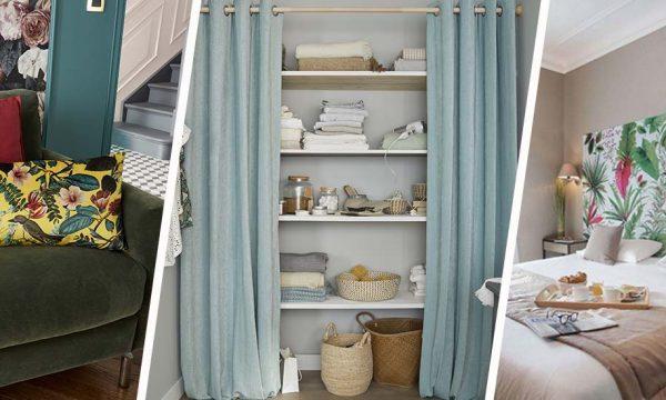 6 façons d'utiliser des rideaux dans la déco autrement qu'aux fenêtres