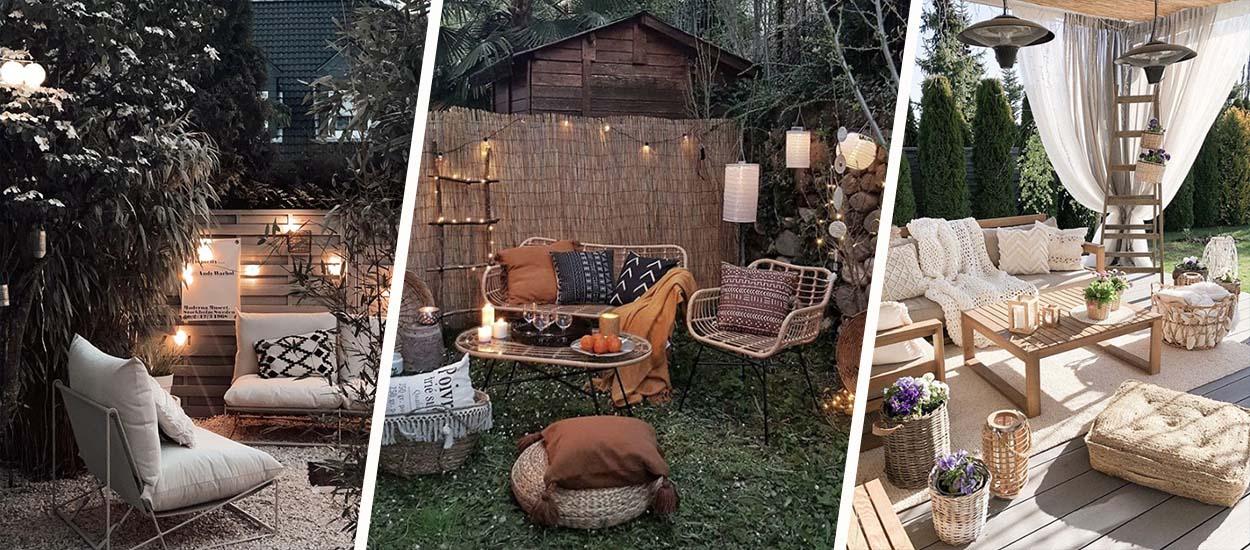 8 idées pour installer un salon d'extérieur très cosy