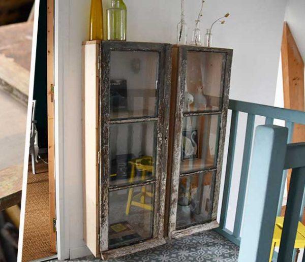 Tuto : Fabriquez une belle étagère vitrine avec une vieille fenêtre