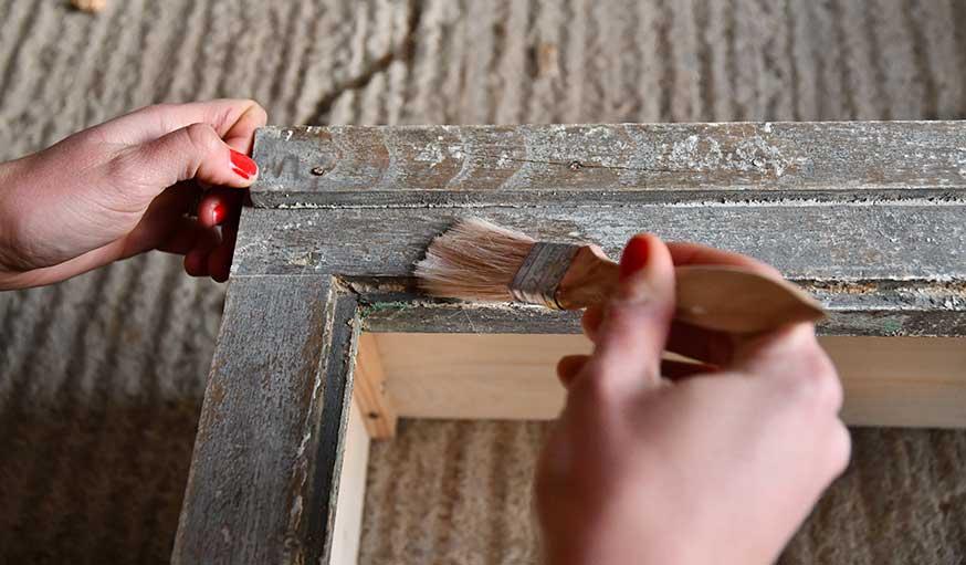 tutoriel fabriquer une vitrine à partir d'une vieille fenêtre étape 6