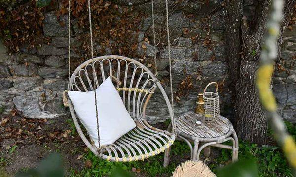 Tuto : Transformez un siège vintage en rotin en fauteuil suspendu