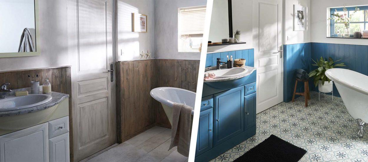 2 Avant / Après qui prouvent que l'on peut rénover facilement une pièce avec de la peinture