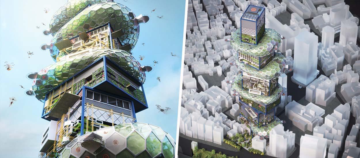 Un nouveau concept de ville verticale futuriste imaginé à Tokyo