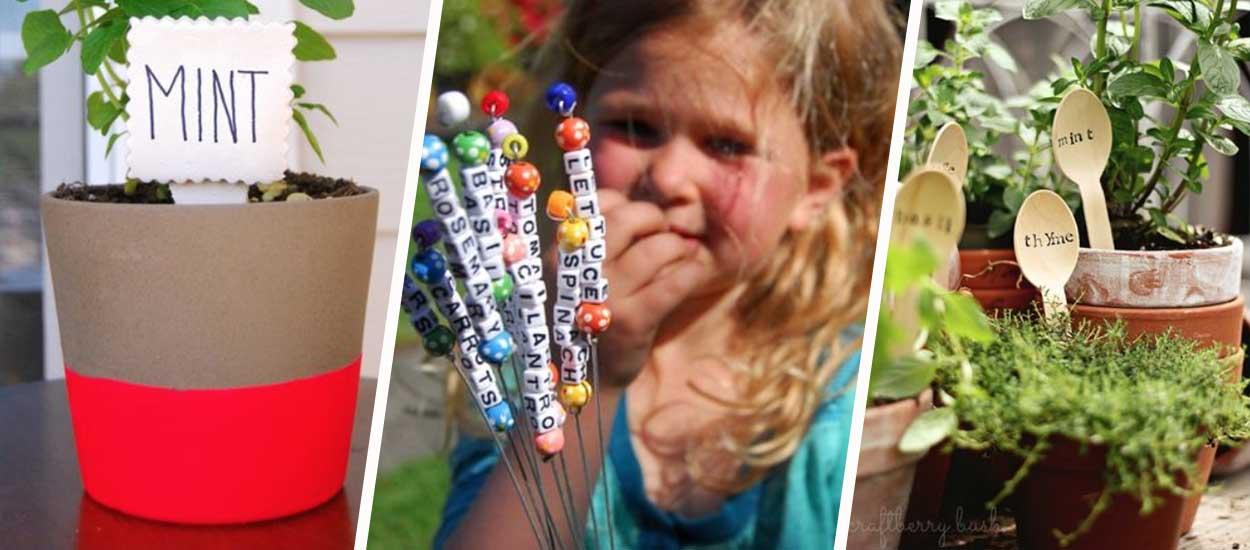 6 idées pour fabriquer des marque-plantes originaux
