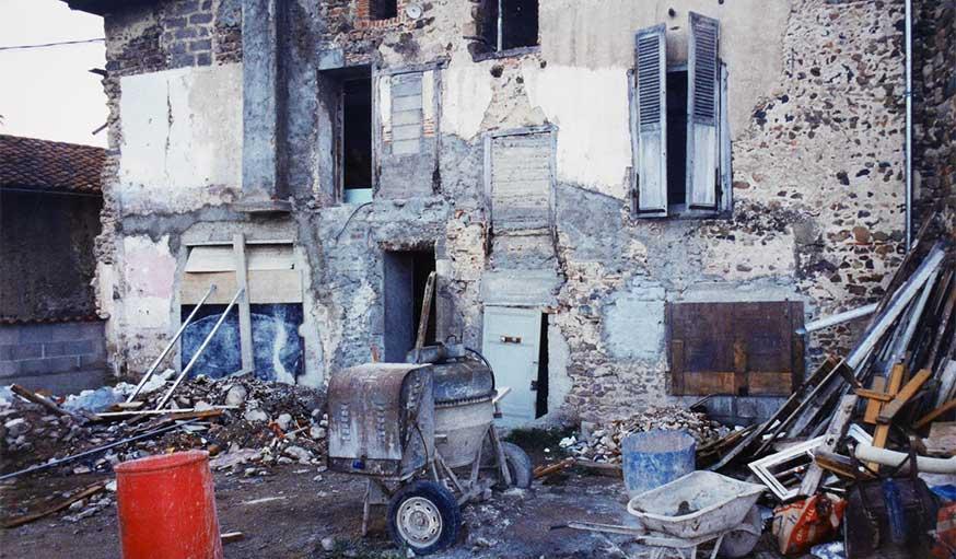 Une maison en ruines, dite le taudis