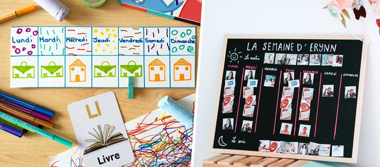 Rentrée sereine : 10 exemples de semainiers à fabriquer pour votre enfant