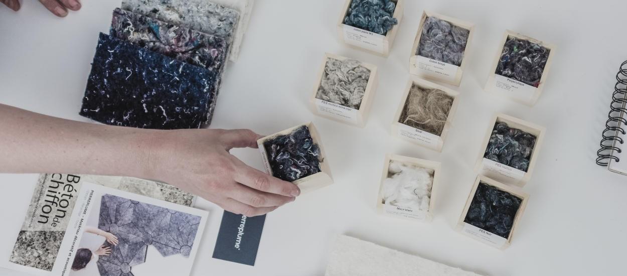 Ce revêtement mural écologique est fabriqué à base de tissu recyclé