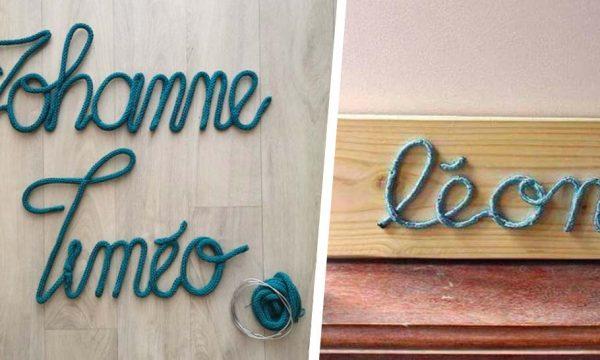 11 idées DIY pour personnaliser la chambre d'un enfant avec son prénom