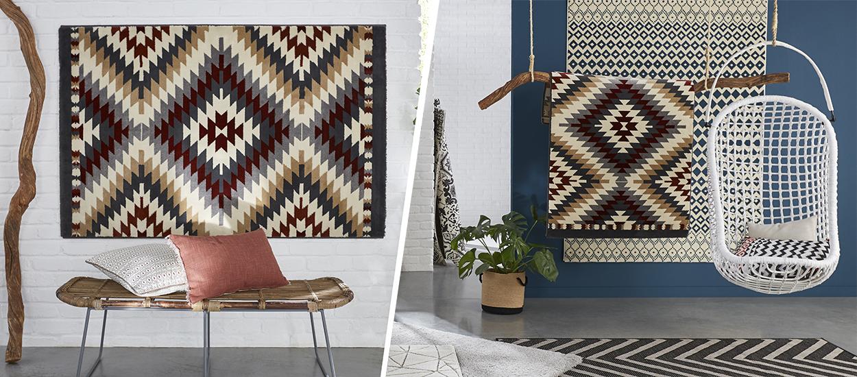 4 façons d'accrocher un tapis au mur, pour adopter cette belle tendance déco