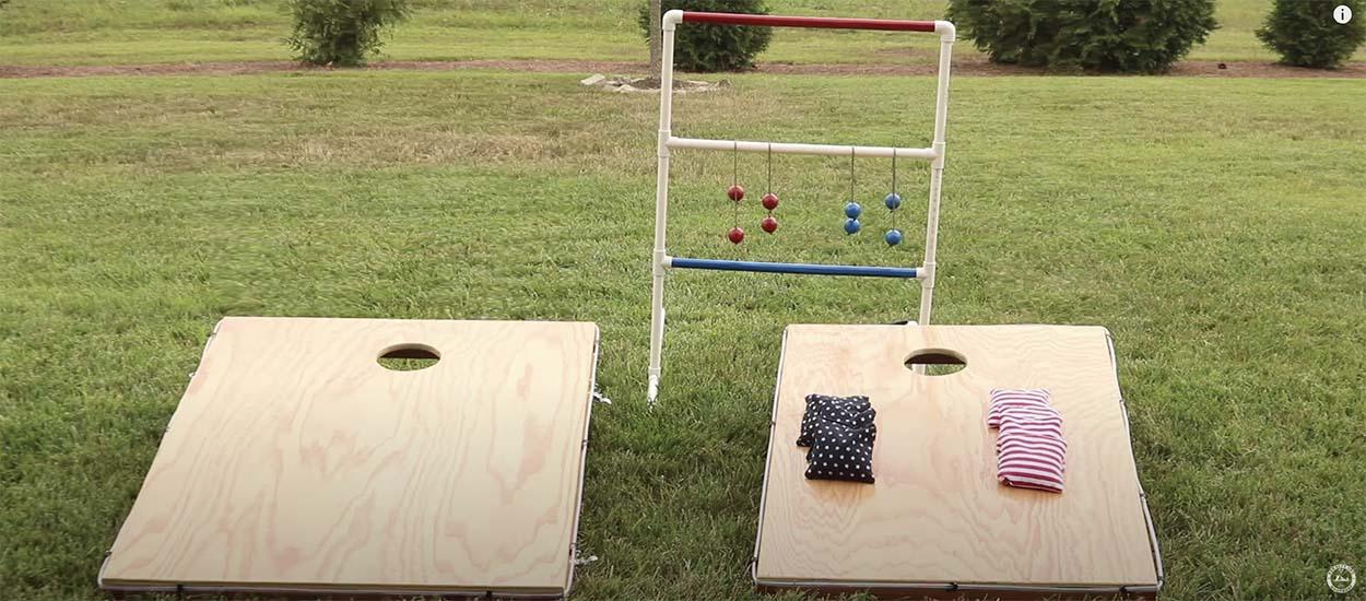 DIY : Fabriquez deux jeux d'extérieur en bois et en PVC pour vos enfants