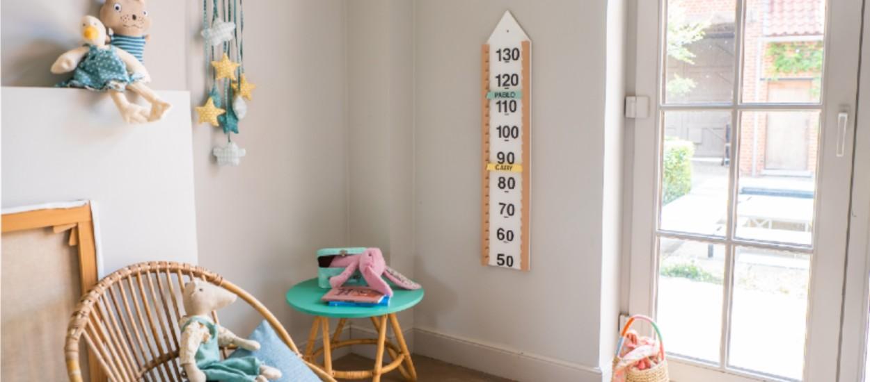 Tuto : Réalisez une jolie toise en bois pour la chambre de vos enfants