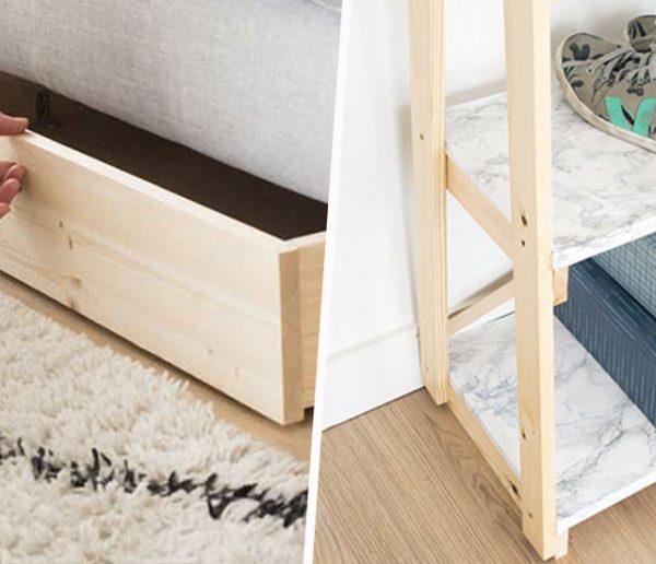Best of de nos tutos : 10 rangements à fabriquer pour chaque pièce de la maison