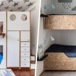 Des lits superposés gain de place triple et OSB