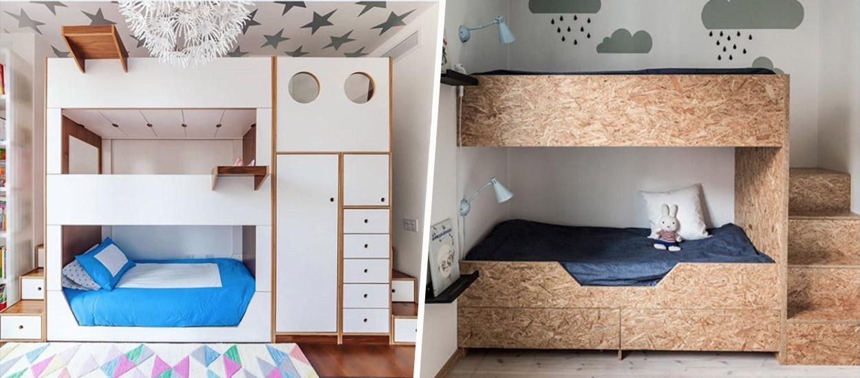 8 façons malignes de gagner de la place avec des lits superposés inspirants