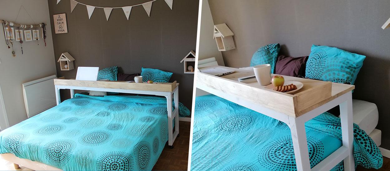 Tuto : Fabriquez une table de lit à roulettes pour petit-déjeuner au lit !