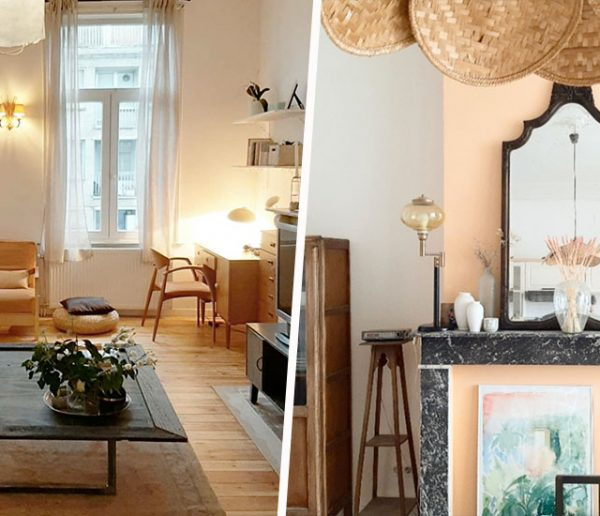 Avant / Après : un appartement bruxellois rénové avec une déco 100% récup'