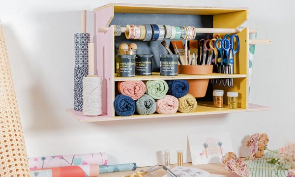 Tuto : Fabriquez un organiseur pour ranger votre matériel de loisirs créatifs