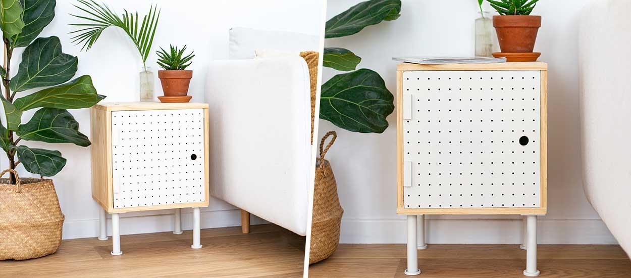 Tuto : Fabriquez un petit meuble original avec une porte ajourée