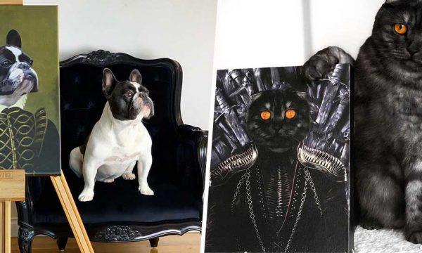 Duchesse, Napoléon, Harry Potter, super-héros… Transformez votre animal en oeuvre d'art